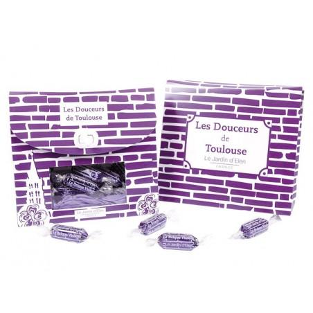 """Coffret 220g de bonbons """"Brique Violette"""""""