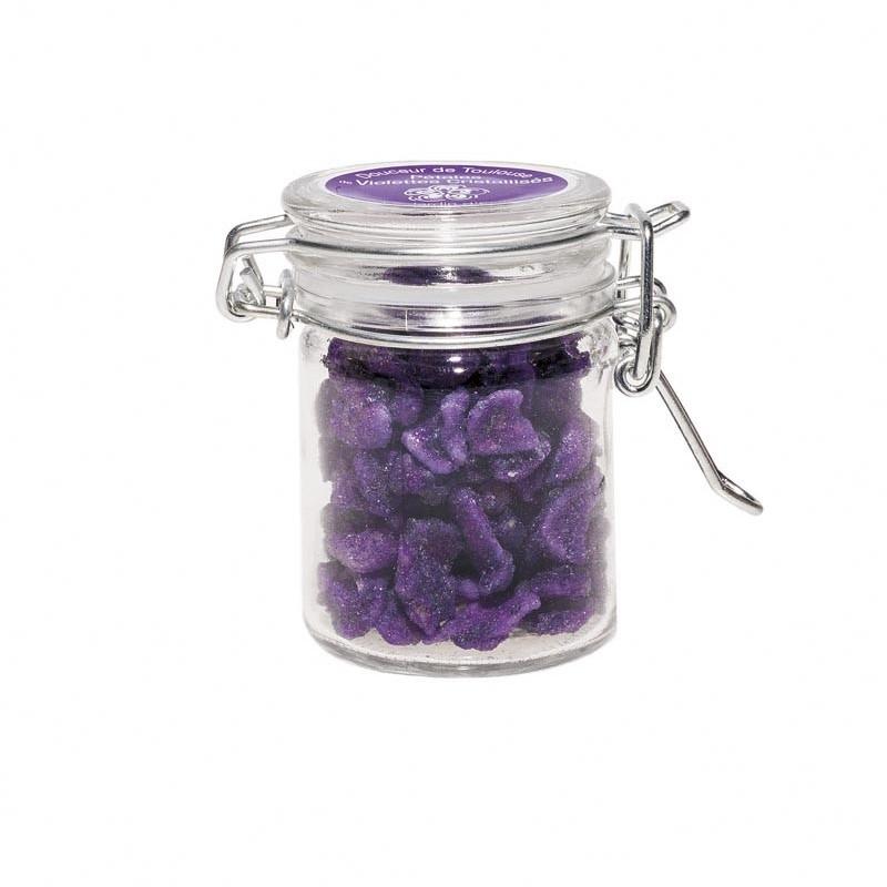 Mini pot de violettes cristallisées 30gr