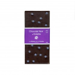 Dark chocolate 100g with violet flavour
