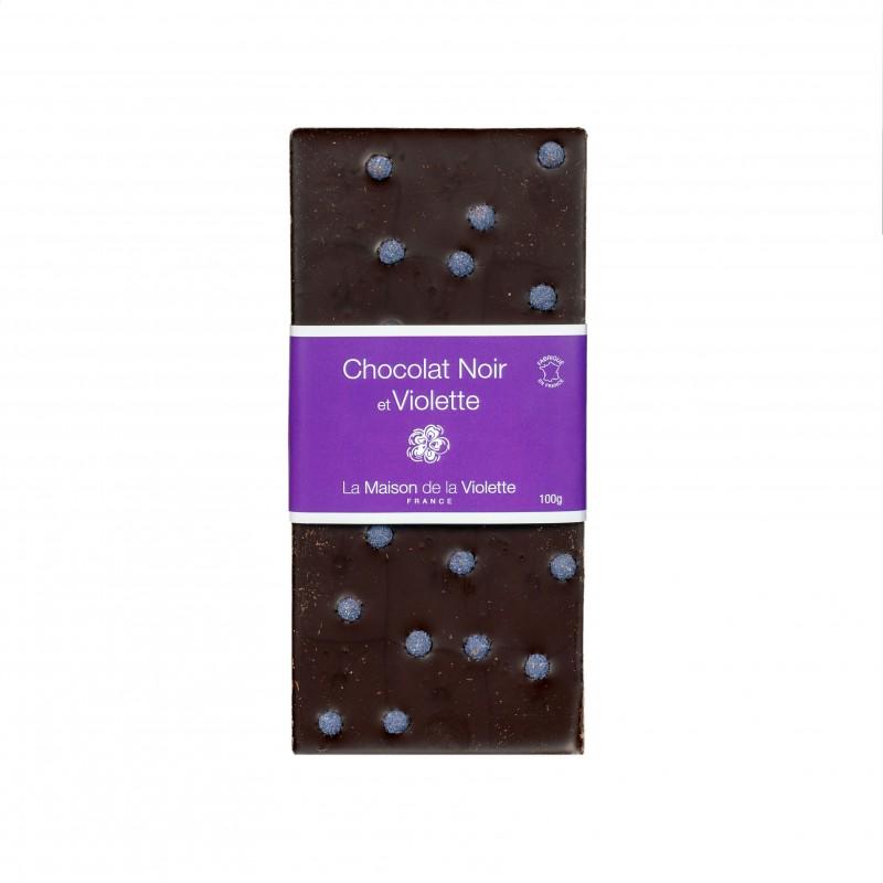 Tablette Chocolat Noir / Violette 100 gr