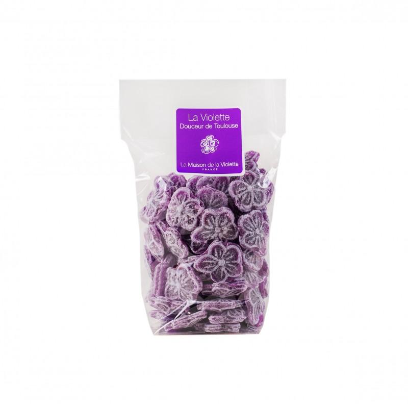 Pot de violettes cristalisées