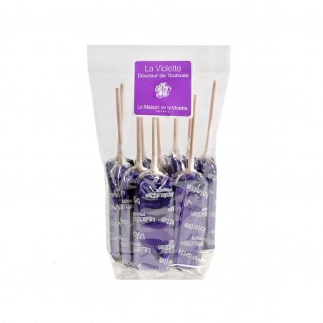 Sachet de 10 sucettes Violette