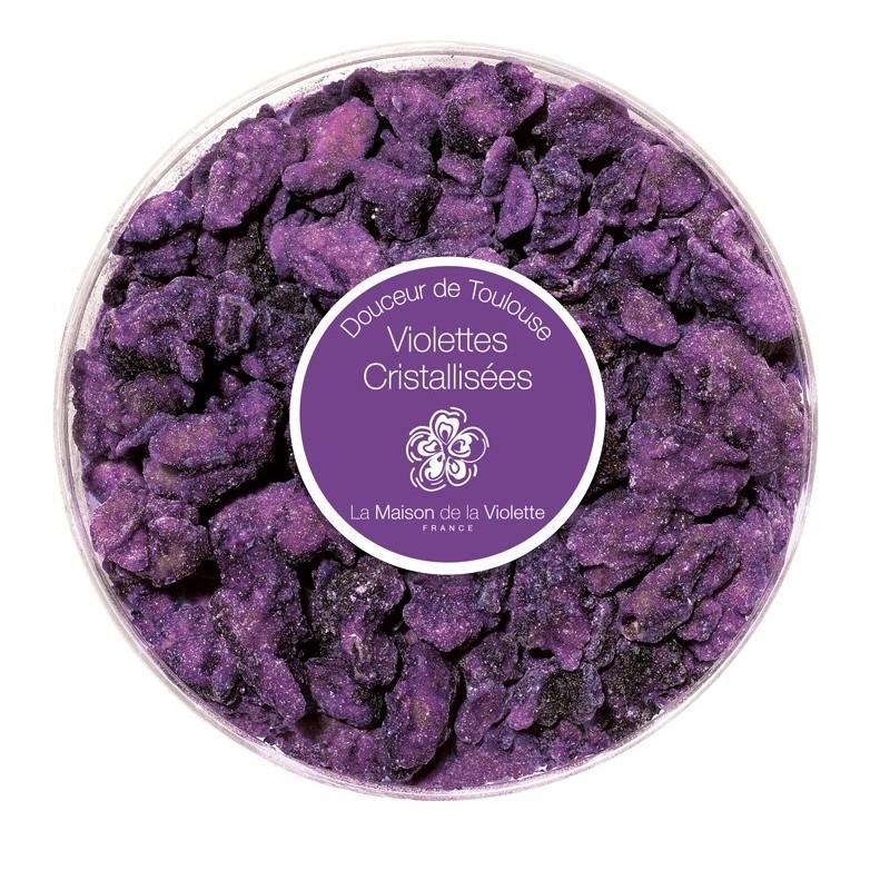 Boite ronde de violettes cristalisées 130 gr