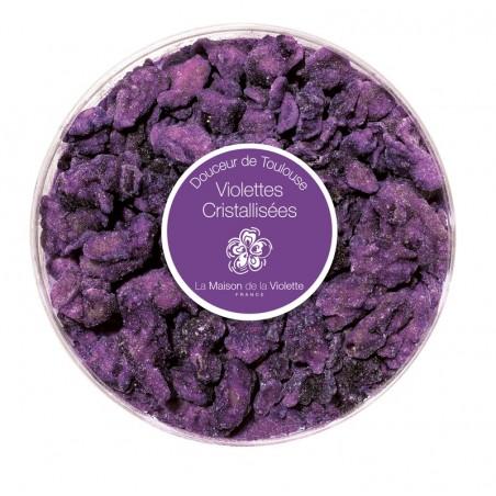 Petite boîte ronde de violettes cristallisées 60 gr