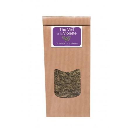 Sachet de thé vert à la Violette avec fleurs 100g