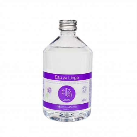Eau de linge parfumée à la Violette 500ml