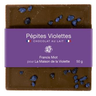 """Chocolat au lait """"Pépites"""" tablette 50g  par Francis Miot"""