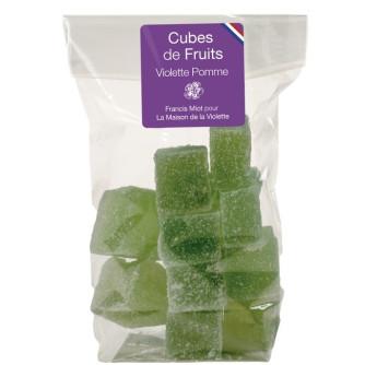 Cubes de fruits Pomme / Violette en sachet 150g