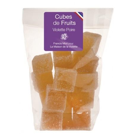 Cubes de fruits Poire / Violette en sachet 150g