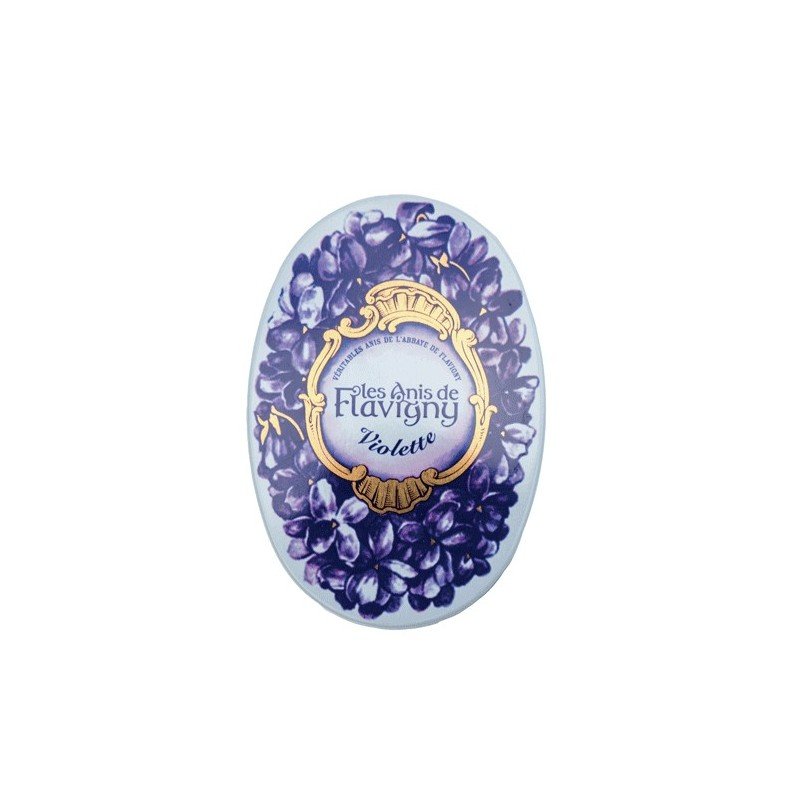 Boite ovale bonbons Anis / Violette Flavigny 50gr