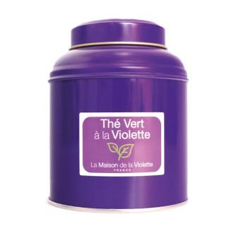 Boite thé vert / Violette 130g
