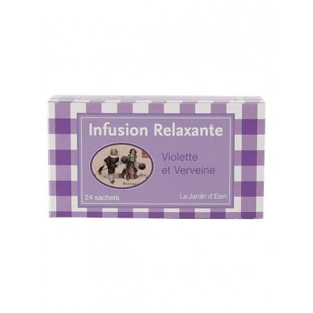 Relaxing infusion Violet / Verbena (24 bags)