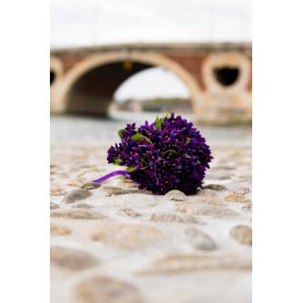 Bouquet de Violettes en tissu