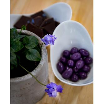 Petite boite de dragées Chocolat / Violette 90g