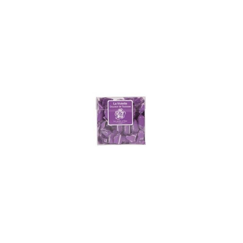 Coffret Bonbons acidulés mini-papillotes saveur Violette  200g